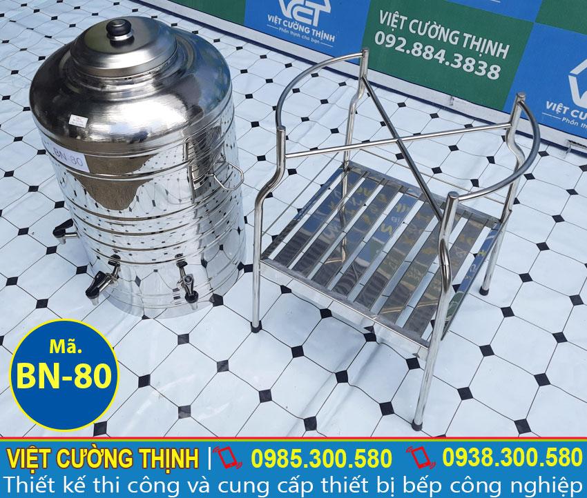Chân bình nước inox 80L
