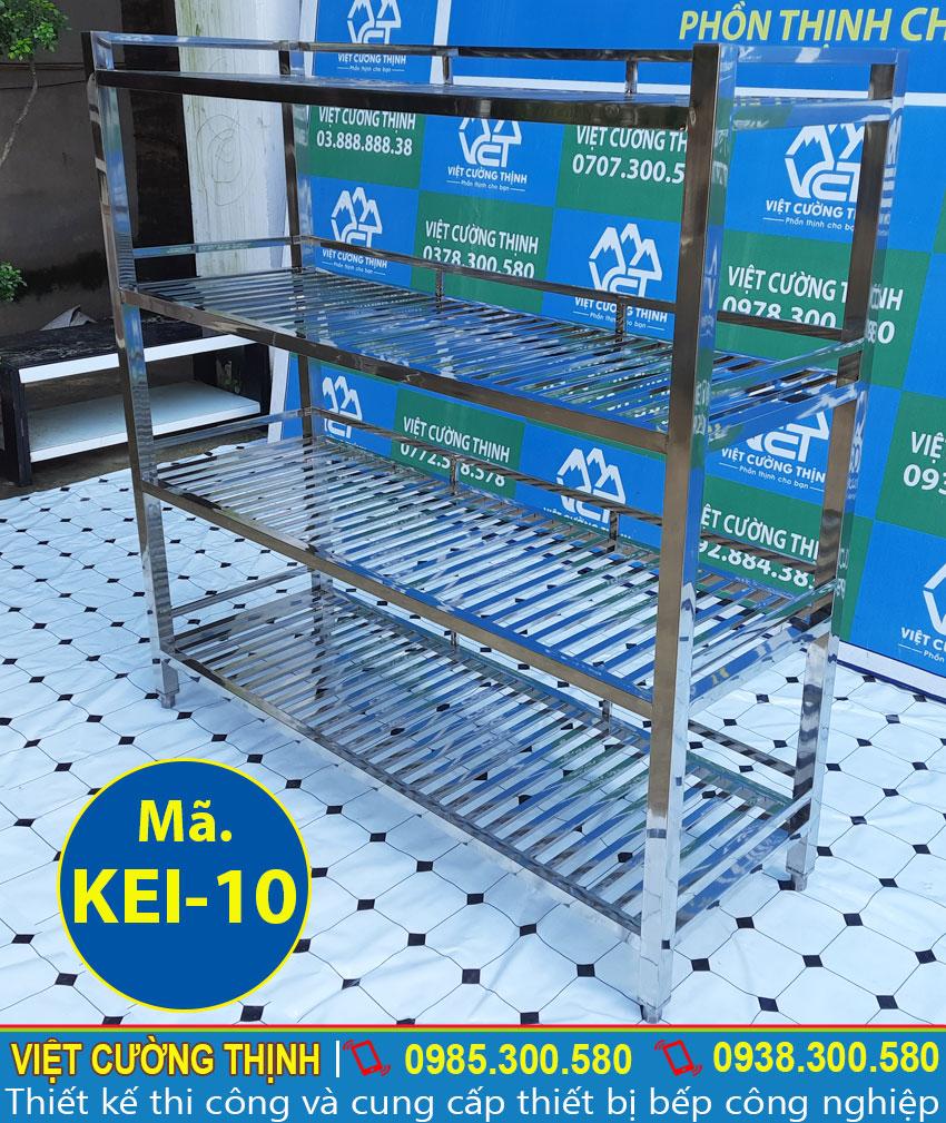 Kệ inox 4 tầng loại thanh chất lượng tại Việt Cường Thịnh