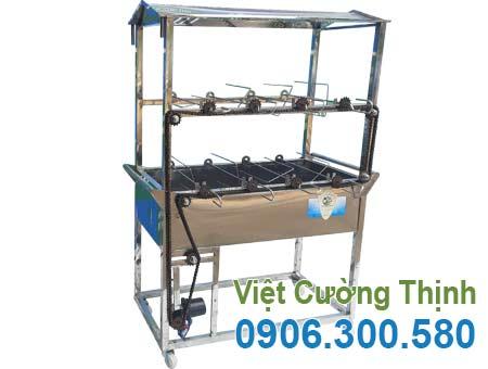Lò quay gà vịt tự động bằng inox LN-10