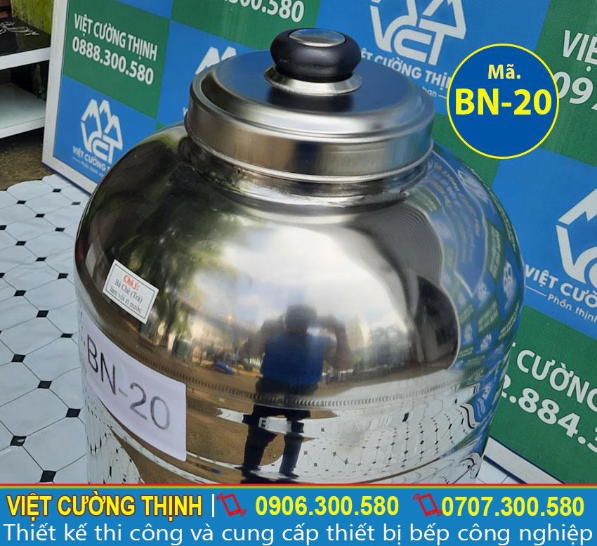 Nắp bình nước đá inox 20l