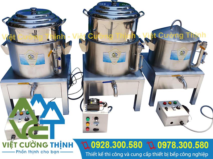 Nồi hấp công nghiệp bằng điện được thi công, sản xuất tại xưởng Việt Cường Thịnh