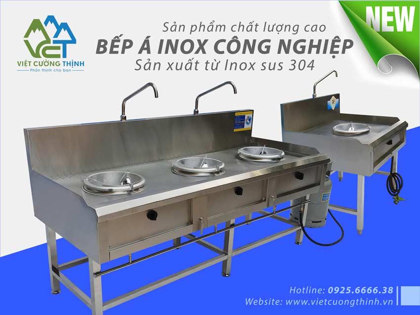 VCT địa chỉ mua bếp gas công nghiệp inox, bếp công nghiệp, bếp khè các loại uy tín