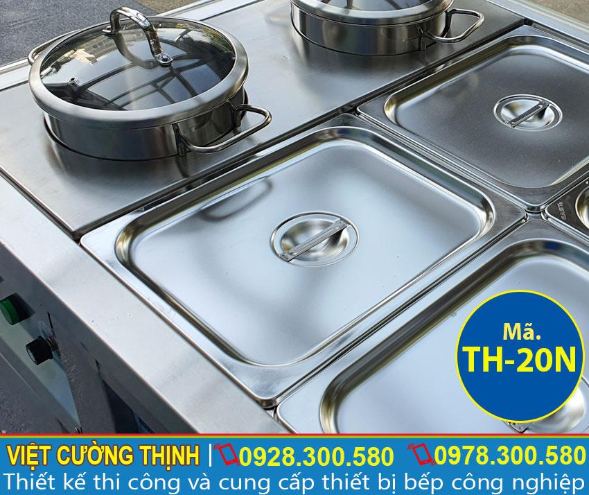 Khay GN, Nồi inox 304 quầy giữ nóng thức ăn