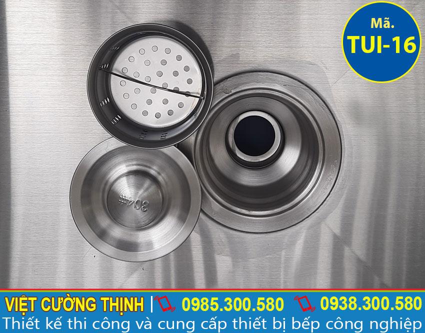 Xi phông bồn rửa chén inox 304