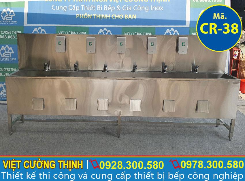 Chậu rửa tay công nghiệp inox CR-38 (01)