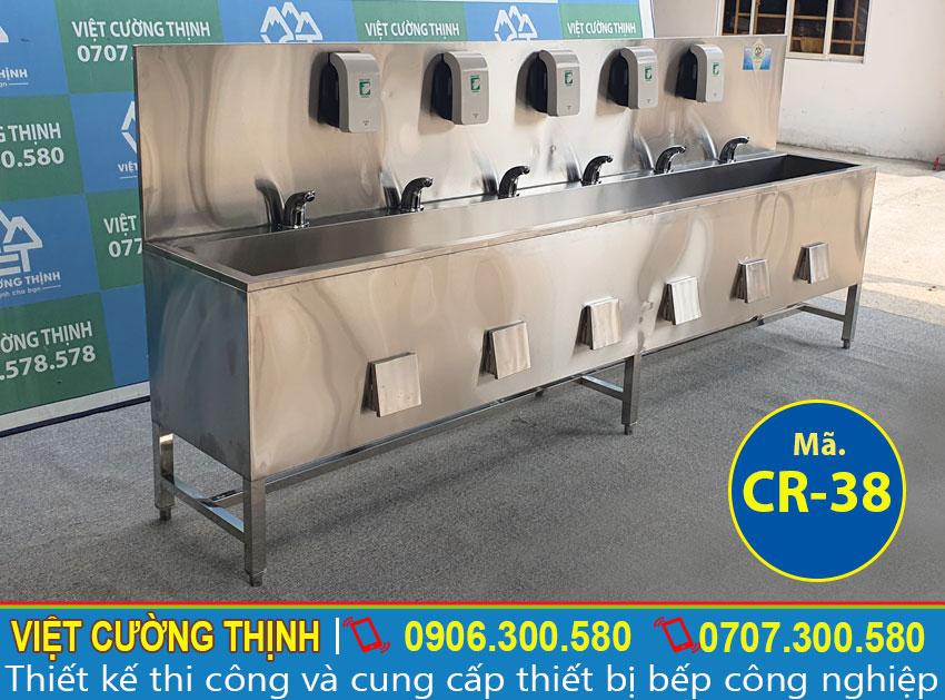 Chậu rửa tay công nghiệp inox CR-38 (02)
