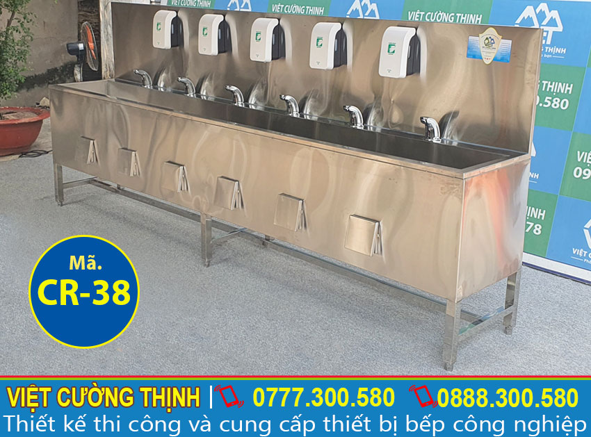 Chậu rửa tay công nghiệp inox CR-38 (03)