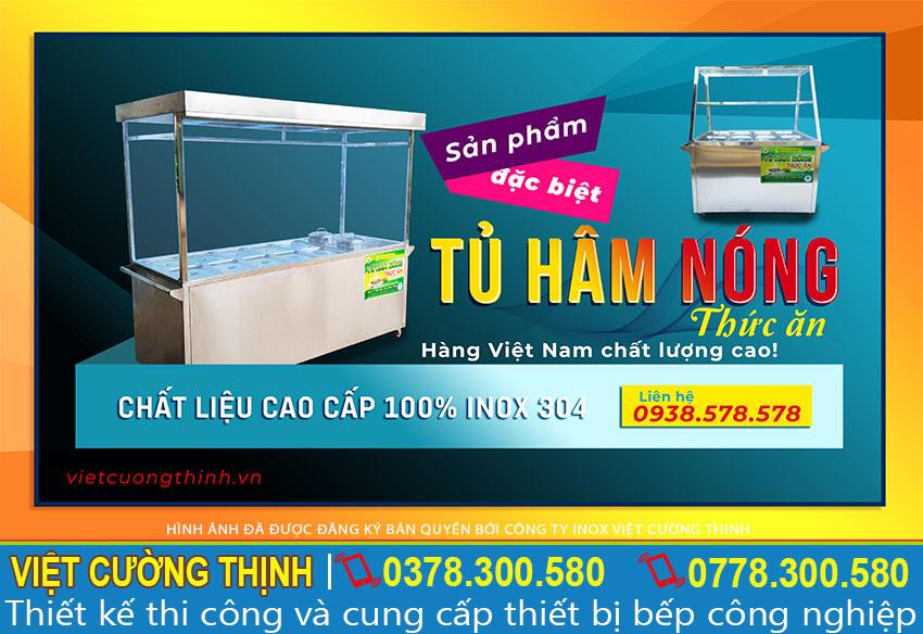 Tủ hâm nóng thức ăn inox 304 chất lượng cao