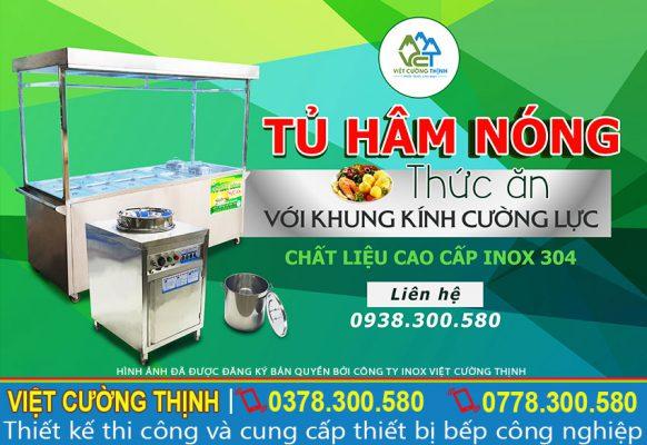 tủ hâm nóng thức ăn khung kính cường lực chất liệu inox 304 cao cấp