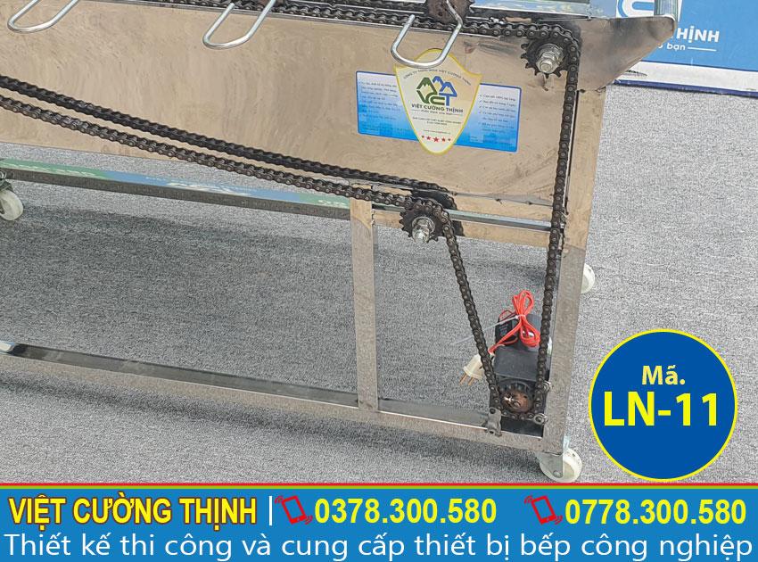 Hệ thống quay của lò nướng inox 5 xiên tự động quay LN-11