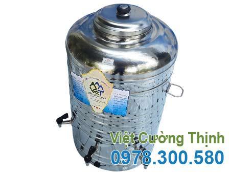 Bình đựng nước inox 100 lít không cách nhiệt có 3 vòi gạt