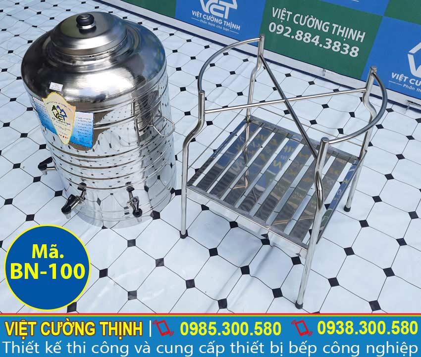 Bình đựng nước inox 100 lít không cách nhiệt giá bao nhiêu