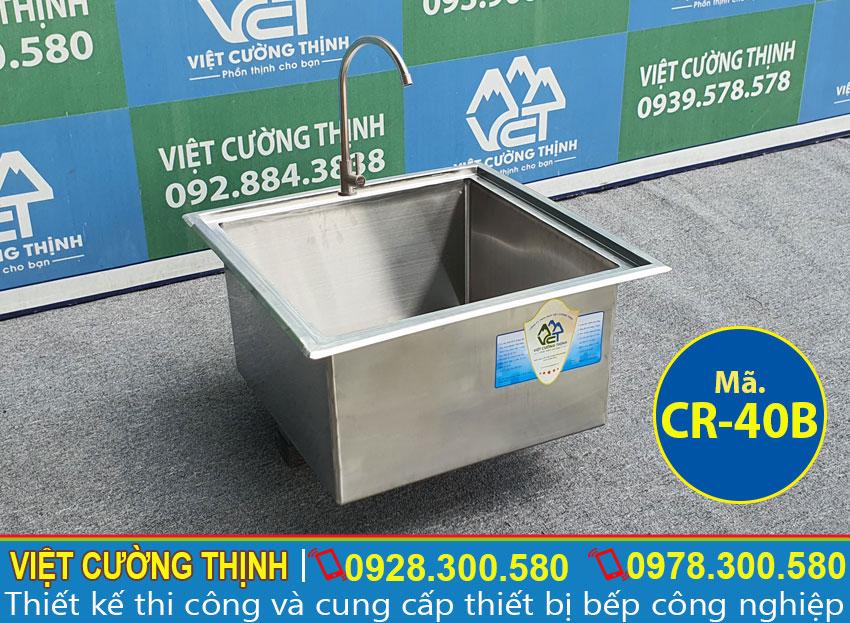 Chậu rửa 1 hộc chất liệu inox 304 cao cấp CR-40B